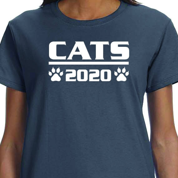 Cats 2020, Political Saying, Funny, Printed 100% Cotton Gift T-Shirt