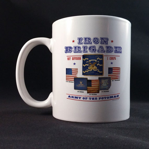 Iron Brigade Battle Flags Gift Mug 11 or 15 oz White Ceramic Mug