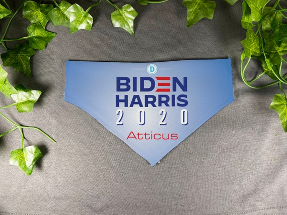 Biden Harris 2020,Joe Biden for President,Personalized Slide On Dog Bandana,Donation to Campaign for each sale, Hand Made, Custom, Dog Scarf