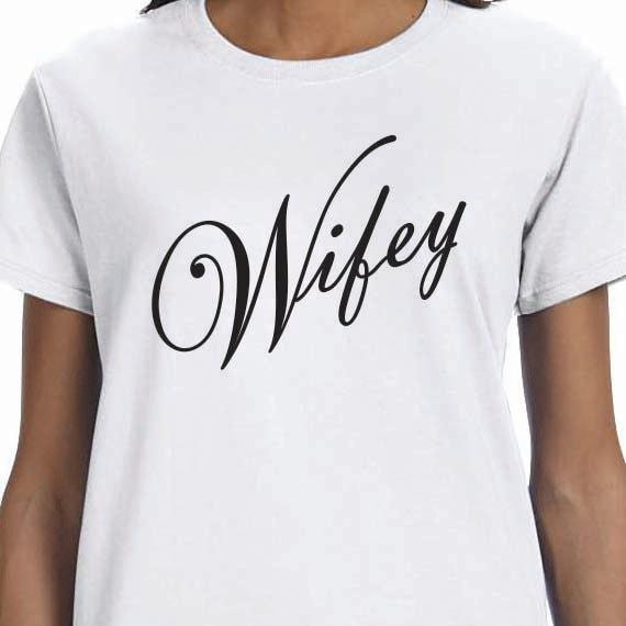 Wifey Wedding Bride Ladies 100% Cotton Gift T-Shirt