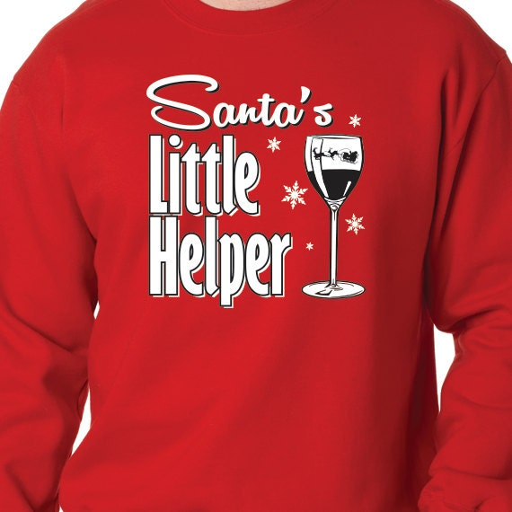 Santa's Little Helper, Christmas Sweatshirt, Christmas Gift, Christmas Present, Printed 50/50 Crewneck Sweatshirt