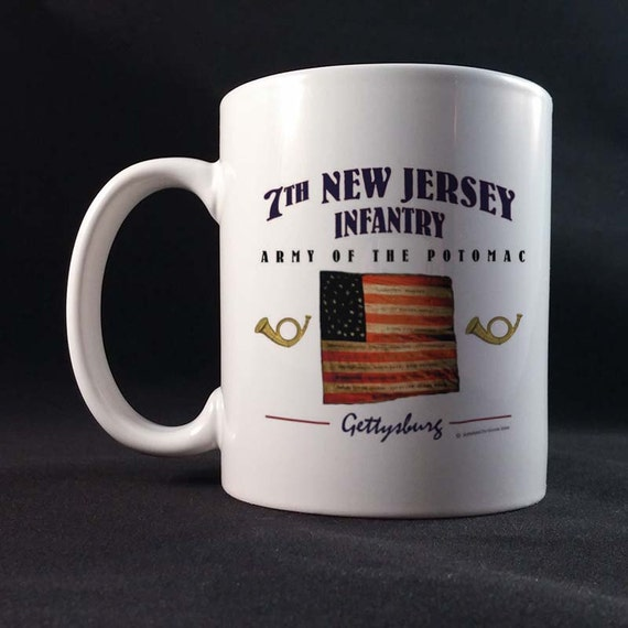 7th New Jersey Infantry 150th Civil War Sesquicentennial Gift Mug 11 or 15 oz White Ceramic Mug