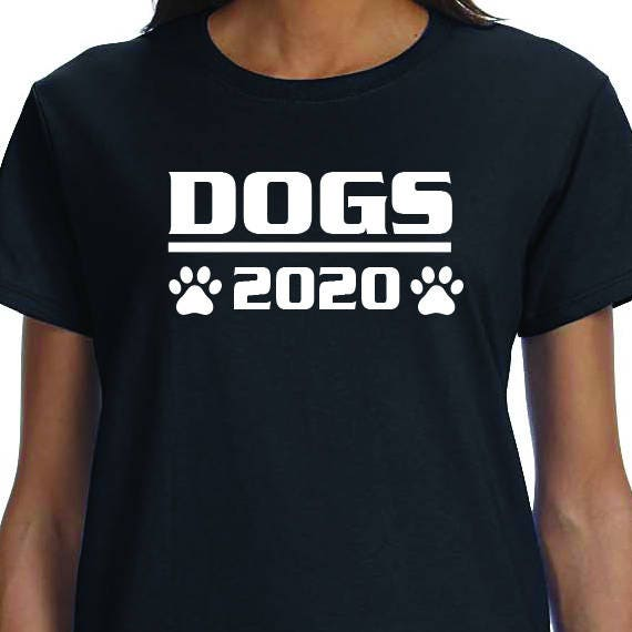 Dogs 2020, Political Saying, Funny, Printed 100% Cotton Gift T-Shirt