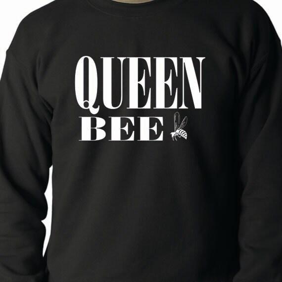Queen Bee 50/50 Crewneck Sweatshirt, Funny Quote, Funny Saying Printed 50/50 Crewneck Sweatshirt
