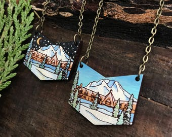 Wooden Necklace - Timberline