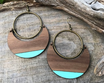 Wooden Earrings - Bold & Beautiful