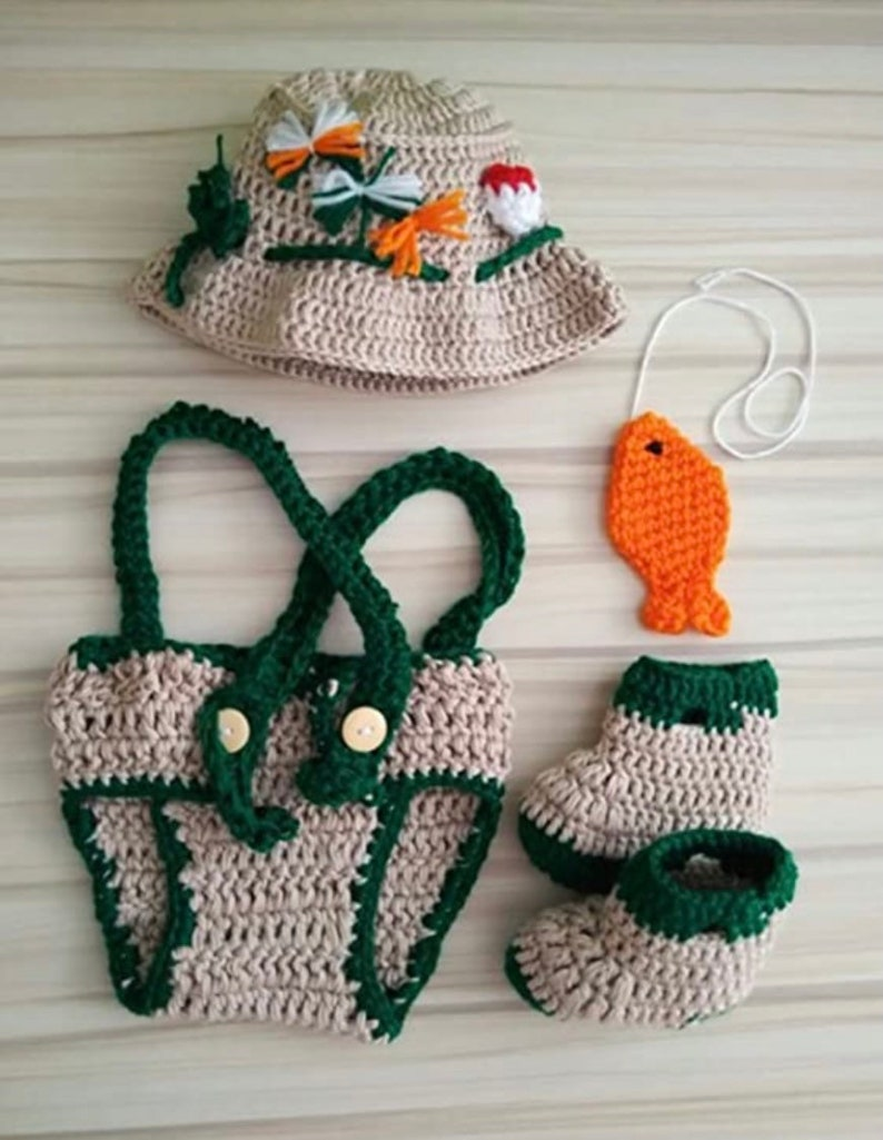Little fisher like daddy uncle grandpa baby 1st fishing set fisherman going fishing first photoshoot newborn outfit