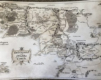 Middle Earth Map Large.Middle Earth Map Etsy