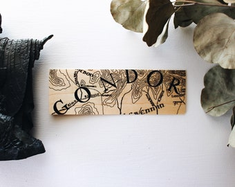 Land of the Kings / Wood Bookmark / Map / Free US Shipping