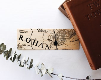 Horse Lord's Region / Wood Bookmark / Map / Free US Shipping