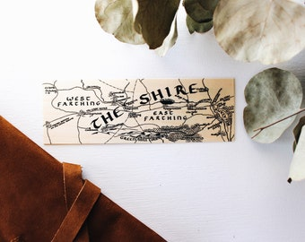 The Farthings / Land of Comfort / Wood Bookmark / Free US Shipping