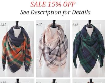 Plaid Blanket Scarf, Blanket Scarf, Tartan Plaid Scarf, Tartan Scarf, Gift For Her, Oversized Blanket Scarf, Plaid Scarf, Christmas Gifts