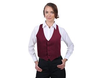 Women's Burgundy Fashion Vest