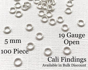 5mm 100 Pc Sterling Silver 5mm Open Spring Clasps Necklace Clasp Bracelet Clasp 5019