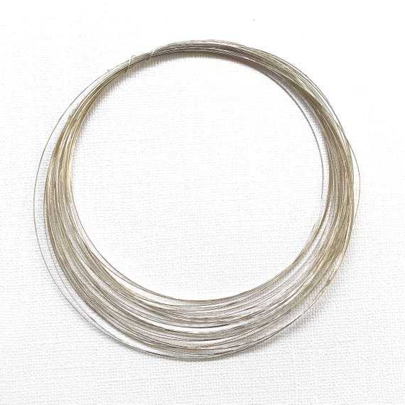 Sterling Silver 26 Gauge Round Half Hard Wire 3016 Made in USA 3 FT