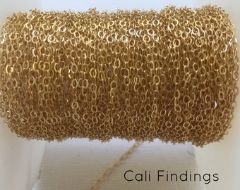 1.5mm 14K Gold Filled Flat Cable Chain- 10 FEET, Gold Cable Chain 1.5mm, Gold Filled Chain, Bulk Gold Filled Cable Chain, Gold Chain [4022]