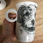 Reserved For Jacquelyn: Handmade Hand-Painted Pet Portrait Mug