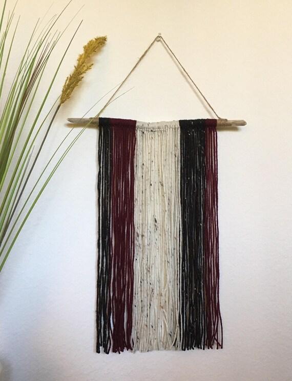 Handcrafted Yarn Wall Hanging // Bedroom Yarn Hanging // | Etsy