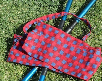 Fire stick staff didgeridoo bag carrying case tote red and blue
