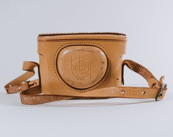 Vintage Leather Camera Case for Bolsey B and Bolsey B2