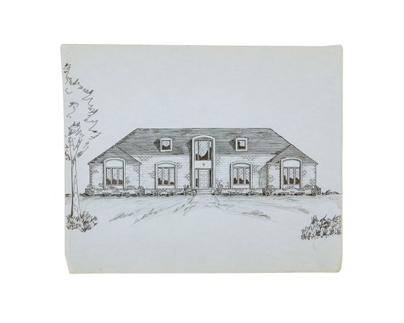 Architectural Drawing of Ranch Style Home on kame house sketch, victorian house sketch, split level house sketch, colonial house sketch, cottage house sketch, bungalow house sketch, contemporary house sketch, cape cod house sketch, pool house sketch, tudor house sketch,