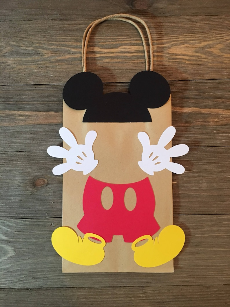 Mickey Mouse Loot Bag Birthday Party Favor Treat