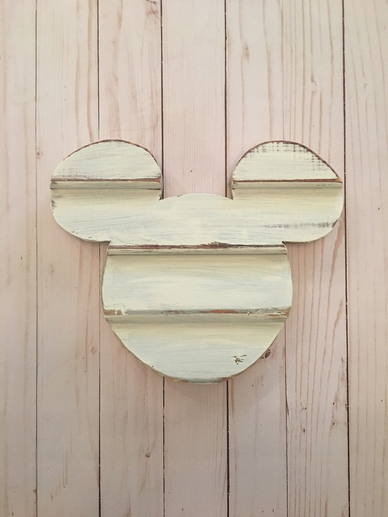 Disney Home Decor Wooden Mickey Ears Christmas Gift Farmhouse Mickey Disney Christmas Gift Wooden Mickey Cut Out