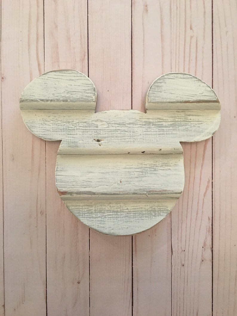 Disney Home Decor Wooden Mickey Ears Christmas Gift Farmhouse Mickey Disney Christmas Gift Wooden Mickey