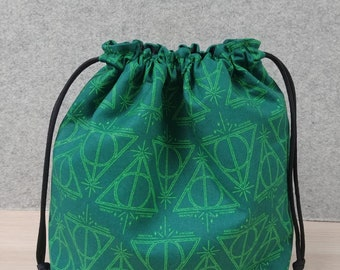 Handmade Zipper Top Harry Potter Medium Project Bag