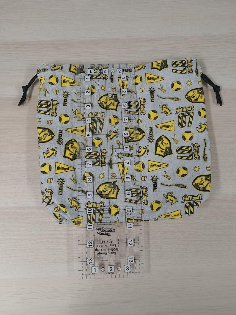 Cross Stitch Bag Bingo Bag \u2013 Hufflepuff- Toy Sack Harry Potter Drawstring Bag Handmade Project Bag \u2013 Knitting Bag \u2013 Crochet Bag