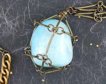 703 Golden Nuggets N German Vintage Pearls Necklace Set