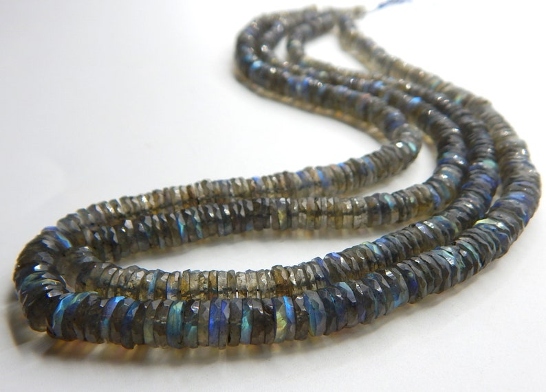 63/%OFF Labradorite Faceted Tyre Beads Wheel Shape 7x6.mm Approx 8.5Inches 100 Percent Natural Top Quality New Arrival Wholesale Price.
