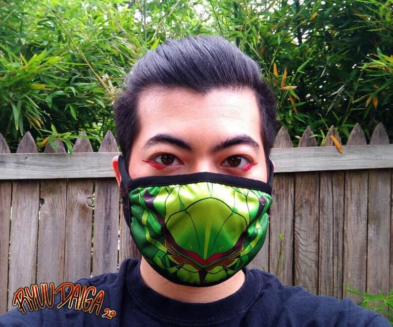 Green Mantis Face Mask image 0