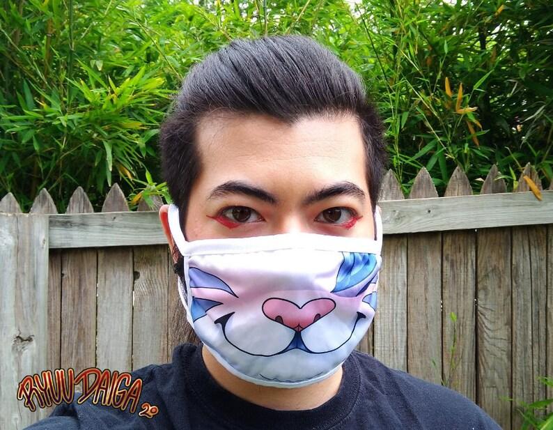 White Tiger Princess Tabitha Face Mask image 0