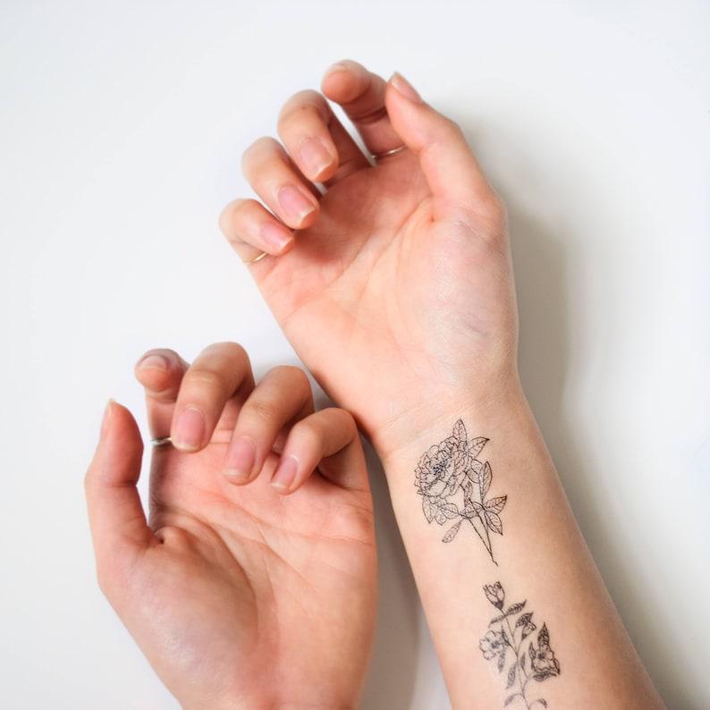 eb1d522676cd0 Mini Black Temporary Tattoo Set Ink t Tatuajes en los