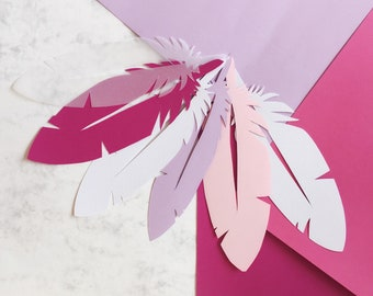 Paper feathers set of 50