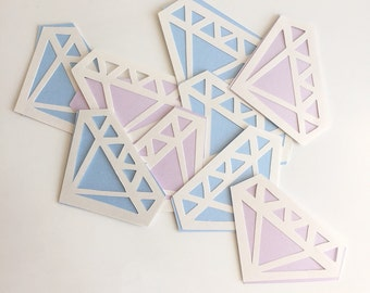 Gem wrapping gift tags