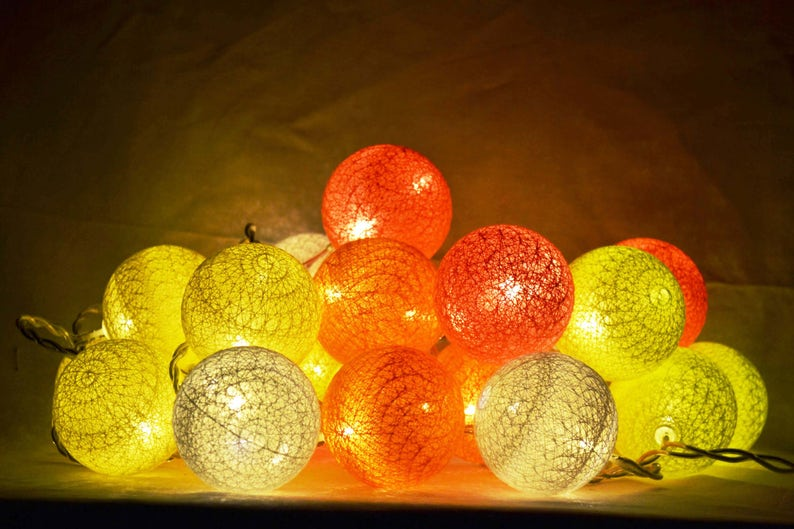 Weihnachtsbeleuchtung Kranz.String Weihnachtsbeleuchtung Led 20 Kugeln Weiß Rosa Orange Gelben Blitz 20 Kugeln Kranz Led Licht Kette Gl Boutik