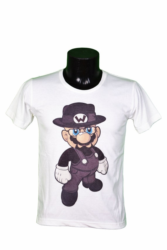 fe4a4332d Mario bros BREAKING BAD heisenberg walter white t-shirt | Etsy