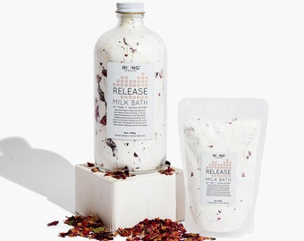 Aromatherapy Gift for Her , Moisturizing Coconut Bath Soak for Relaxation , Pure Cocoa Butter & Rose Petals,  Bridesmaid or Birthday Gift