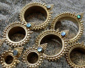 Brass Tunnels⎜Abalone Shell⎜4-20 mm