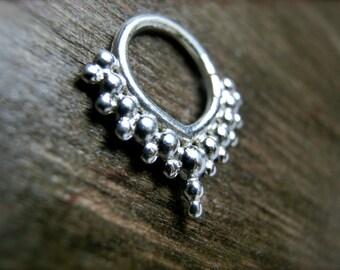 Silver Septum / Piercing Jewelry / Earrings