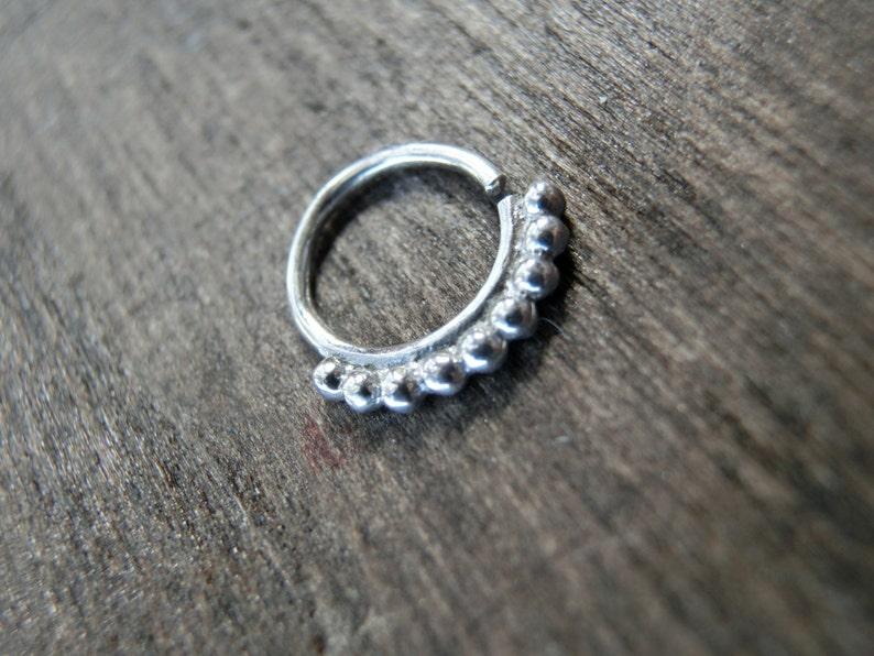 Tiny Silver Hoop Earrings \u00d86 mm