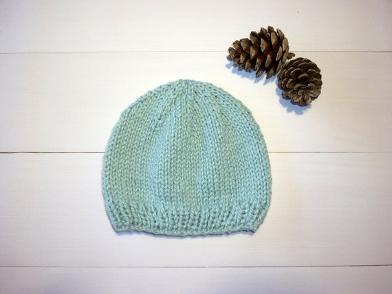 Organic cotton baby hat. Organic Cotton baby beanie. Mint  4da5b37306a