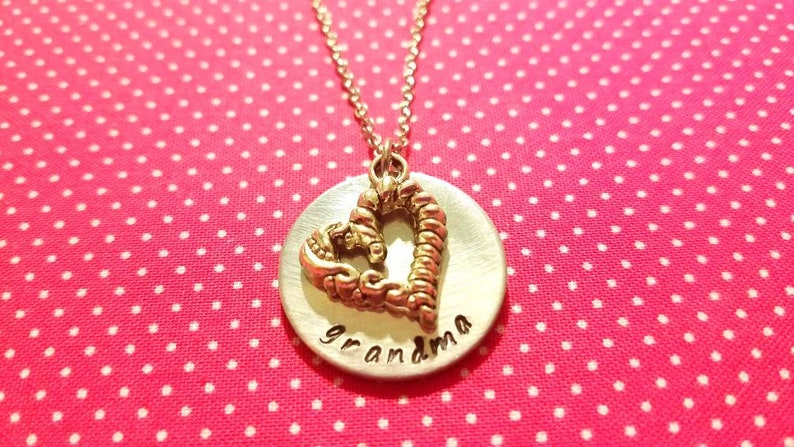 Personalized handstamped pendant