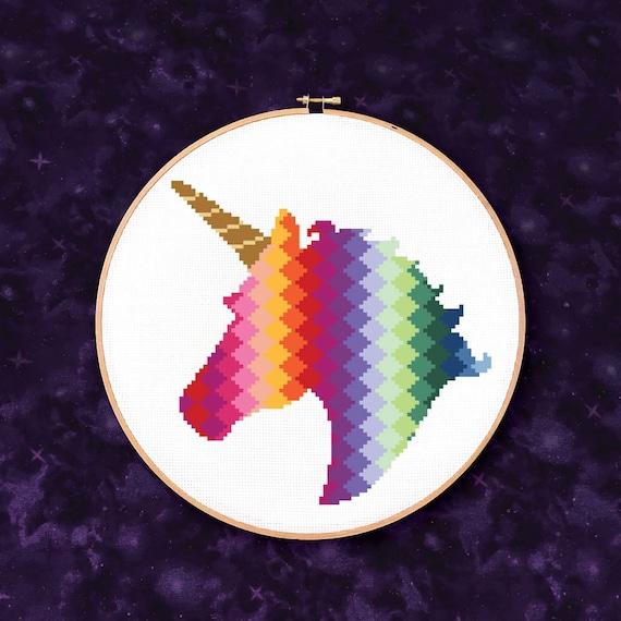 Rainbow Unicorn - PDF Cross Stitch Pattern