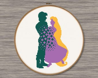 Rapunzel and Flynn - PDF Cross Stitch Pattern