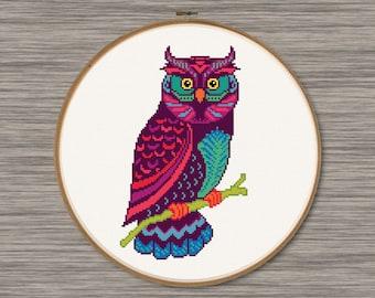 Modern Owl - PDF Cross Stich Pattern