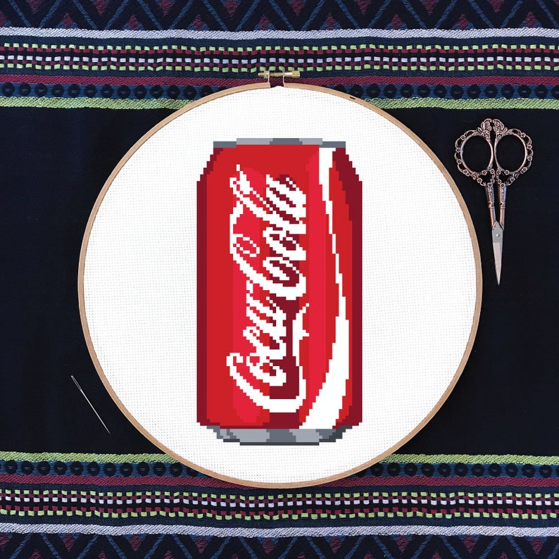 Coca-Cola Can  PDF Cross Stitch Pattern image 0