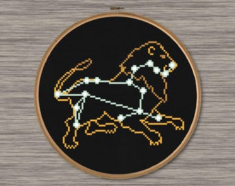 Leo Constellation  - PDF Cross Stitch Pattern